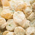 Baked Ranch potatoes in a cheesy creamy sauce is a delicious side dish made with 5 ingredients and in just 30 minutes.