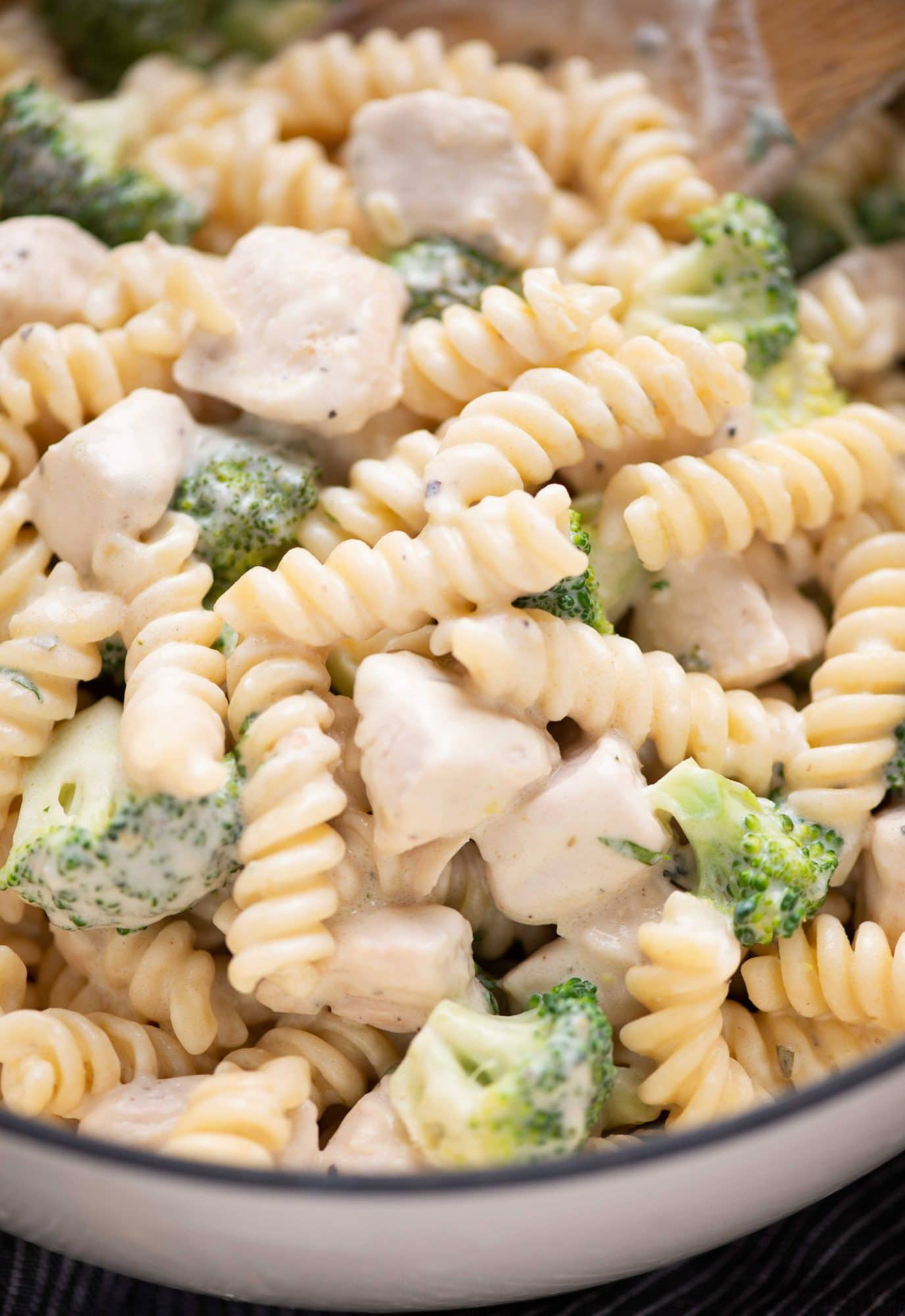 Creamy Chicken broccoli pasta is a comforting dinner recipe, that everyone loves in the family. The rich creamy garlic parmesan sauce is made with butter, flour, heavy cream and parmesan cheese.
