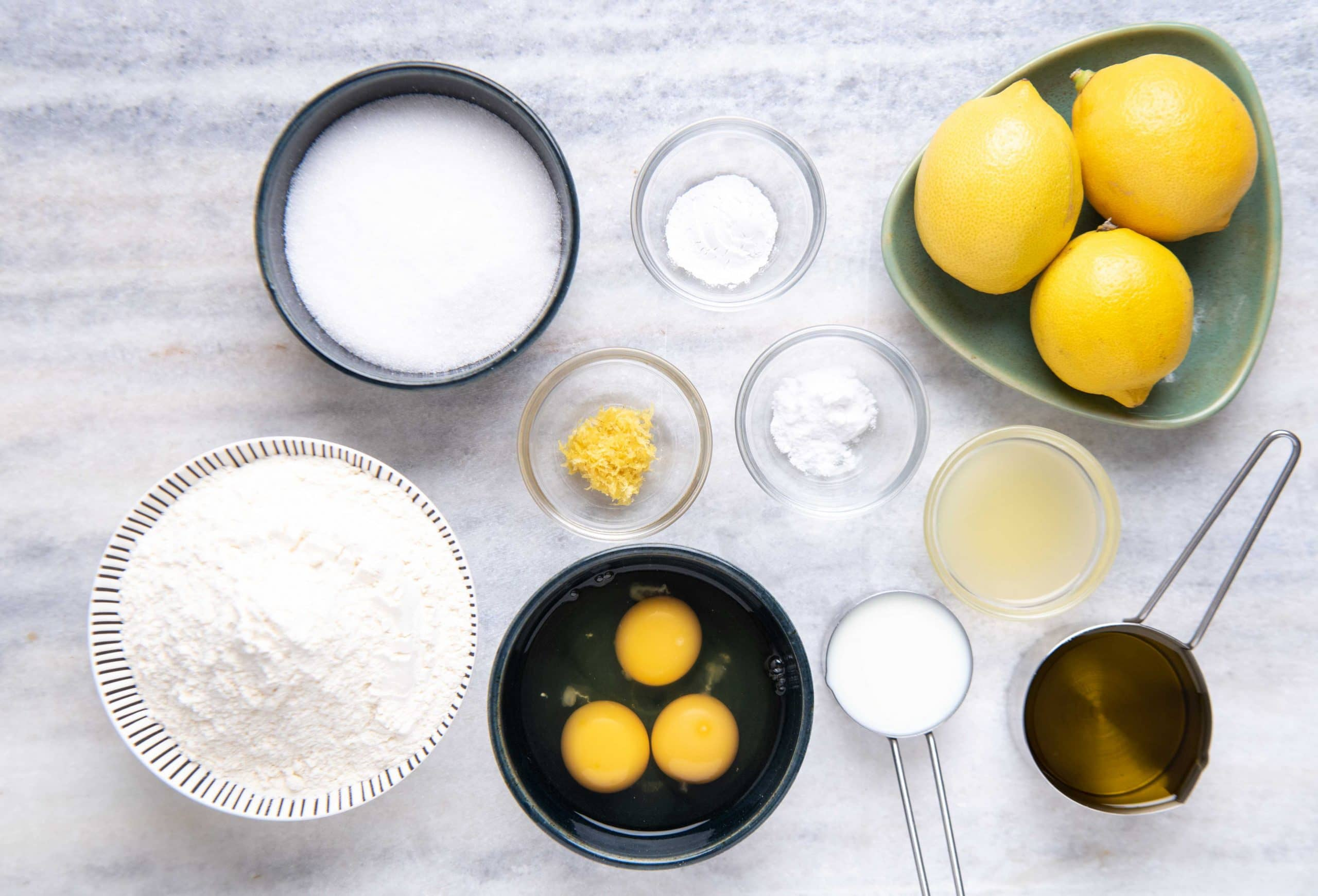 Ingredients for Lemon Cake with Olive oil