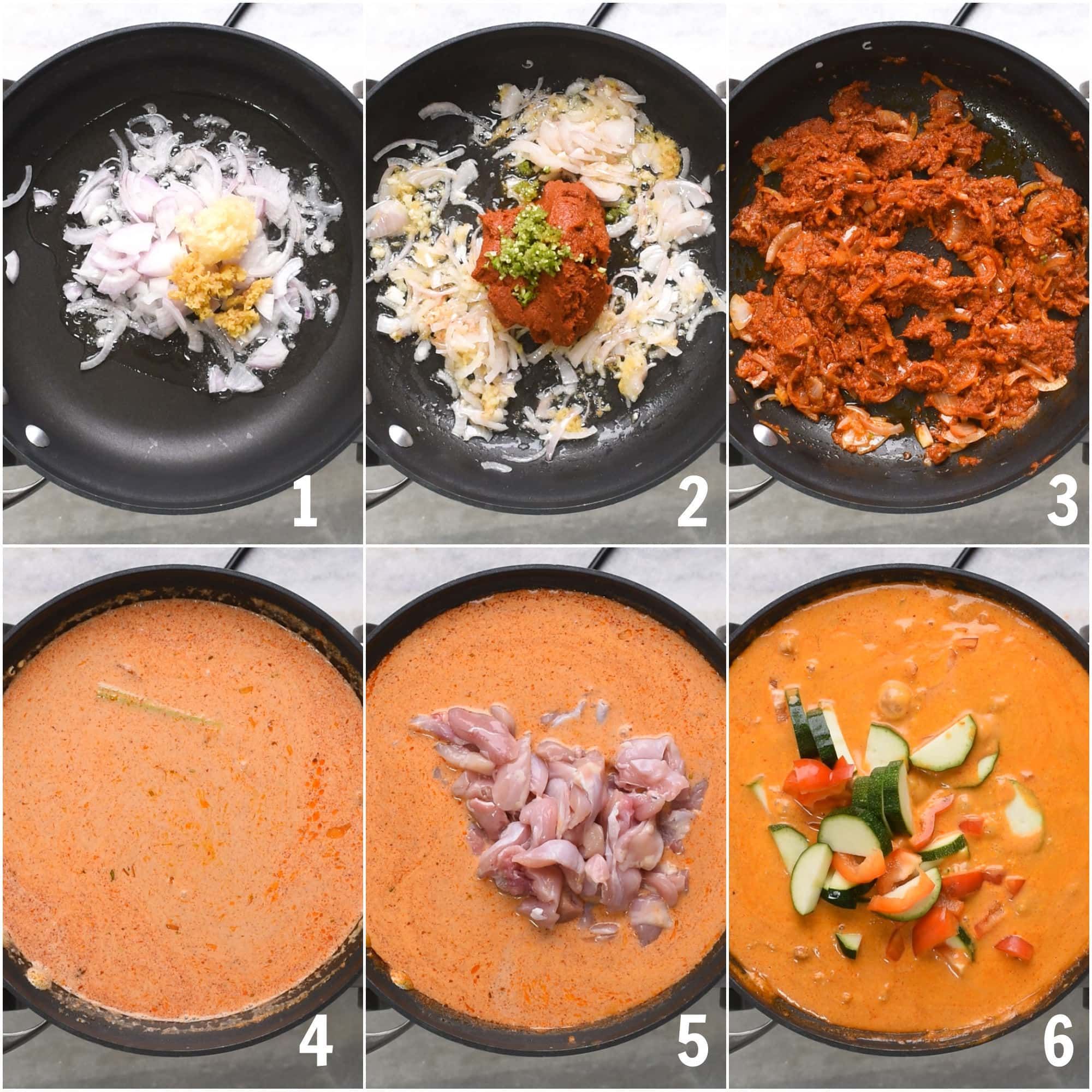 Steps to make the best Thai red curry with Chicken
