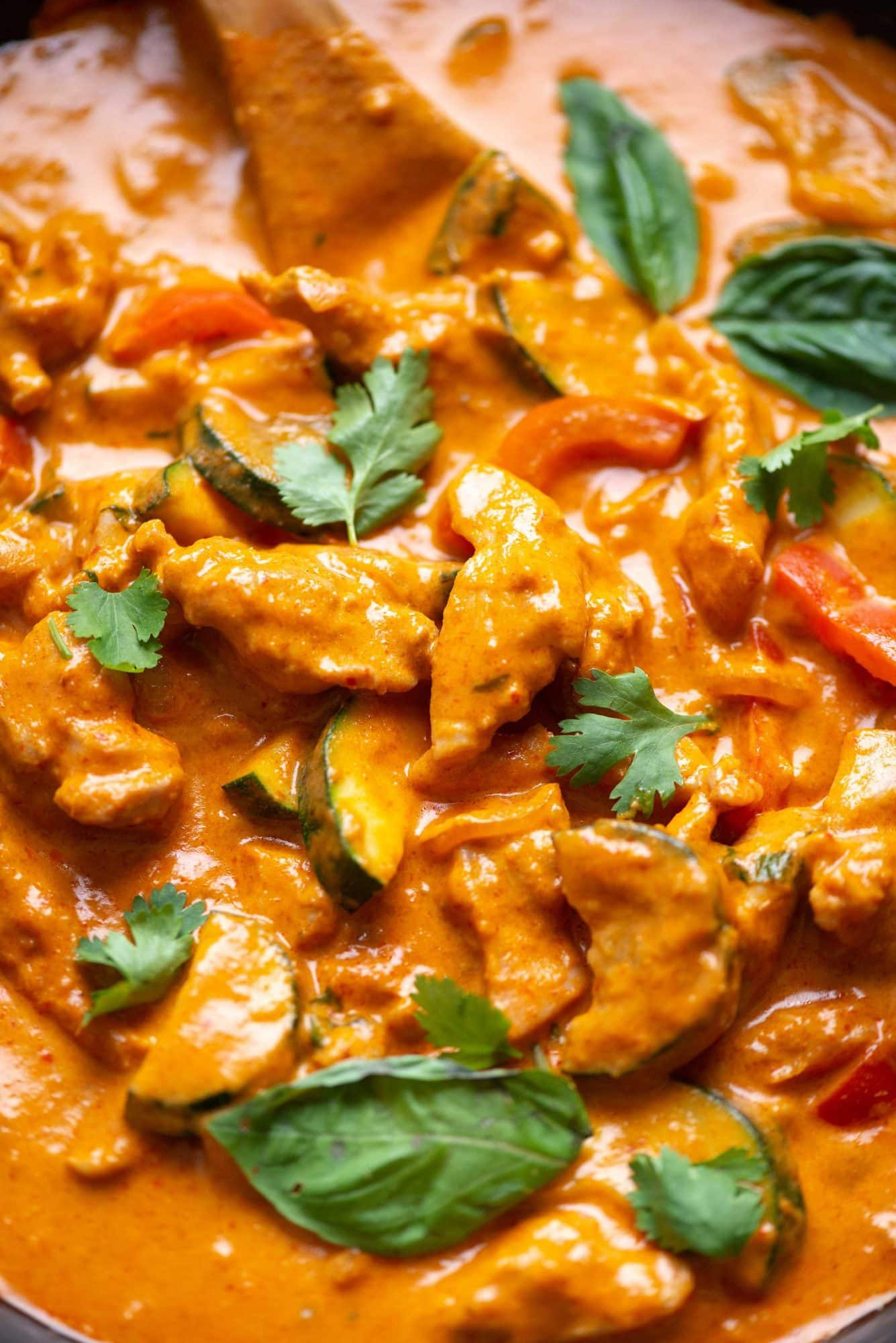 Rich and creamy Thai red Curry have chicken and vegetables. It is packed with fresh flavours and you need just 30 minutes to make it. It tastes amazing when served with Jasmin rice.
