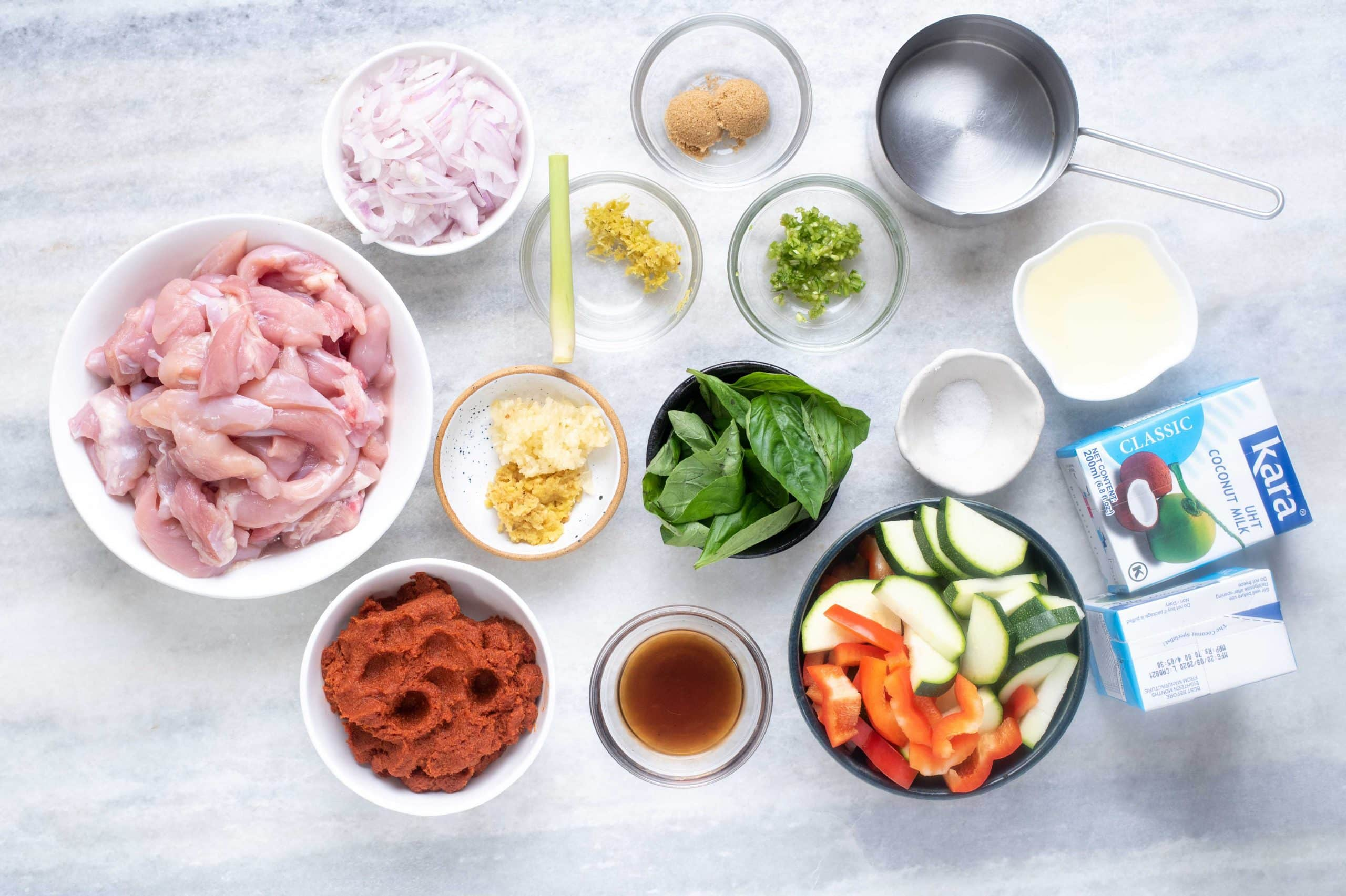 Ingredients for Thai Red Curry